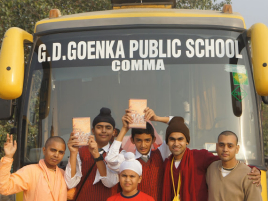 Gitas To Be Distributed To Delhi School...