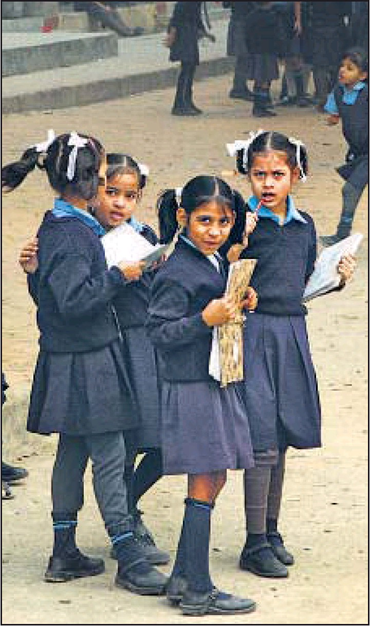 No uniforms, MCD students brave winter